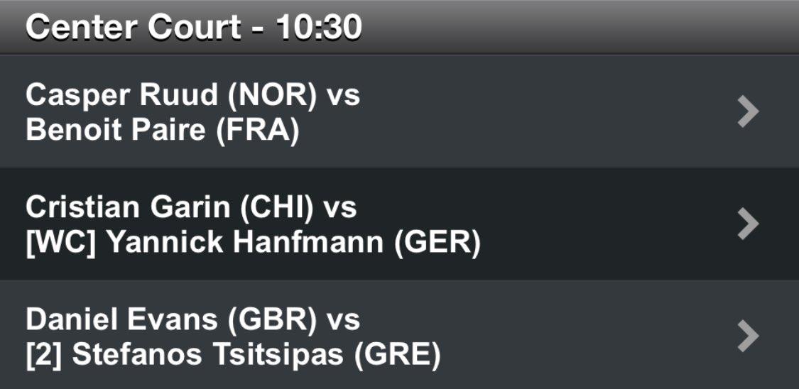 Stefanos will play tomorrow on Hamburg's Center Court.   3rd match from 10:30am CET, so around 1 or 2pm CET.   #PameStef 🇬🇷 #HamburgOpen 🇩🇪 https://t.co/yBba9tmWar