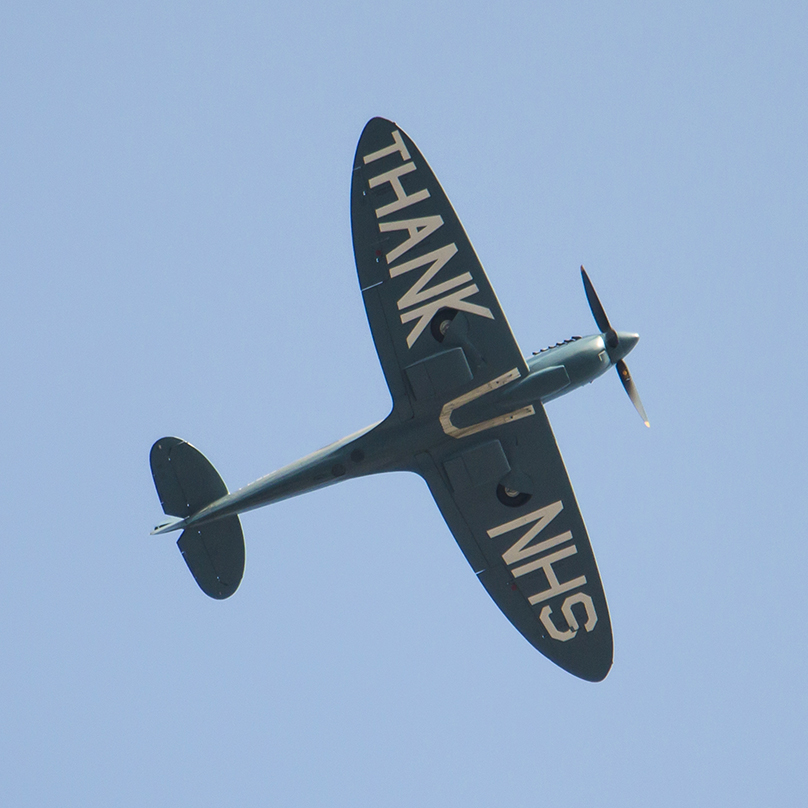 Did you see it? Did you hear it? If you didn't, don't worry - we managed to capture some snaps of the NHS Spitfire as it flew by our hospitals earlier today. Aren't they amazing?! https://t.co/kt5zk56ZVR