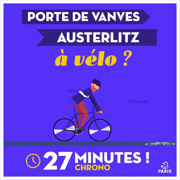 Image for the Tweet beginning: 🚴‍♀️ 🚴‍♂️ Porte de Vanves