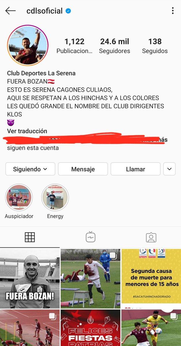 📌 Hinchas de Deportes La Serena se tomaron el Instagram oficial del club. 😱 https://t.co/1ZFJ8WZgQ2