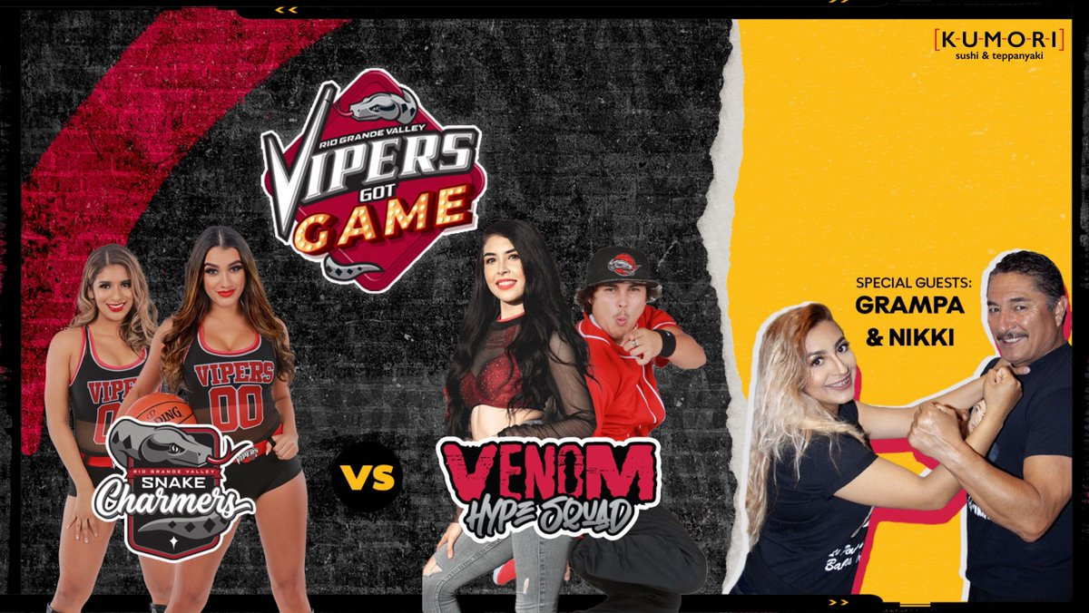 Vipers Got Game ep. 2 is coming out TOMORROW at 7pm CST!   Subscribe here: https://t.co/z8uNRFYwPW  Who's team are you on, Snake Charmers or Venom HypeSquad?   Comment below for a chance to be on episode 3 and TAG 4 friends! #RGVVipers #NBAGLeague https://t.co/JxMj4MGBwr