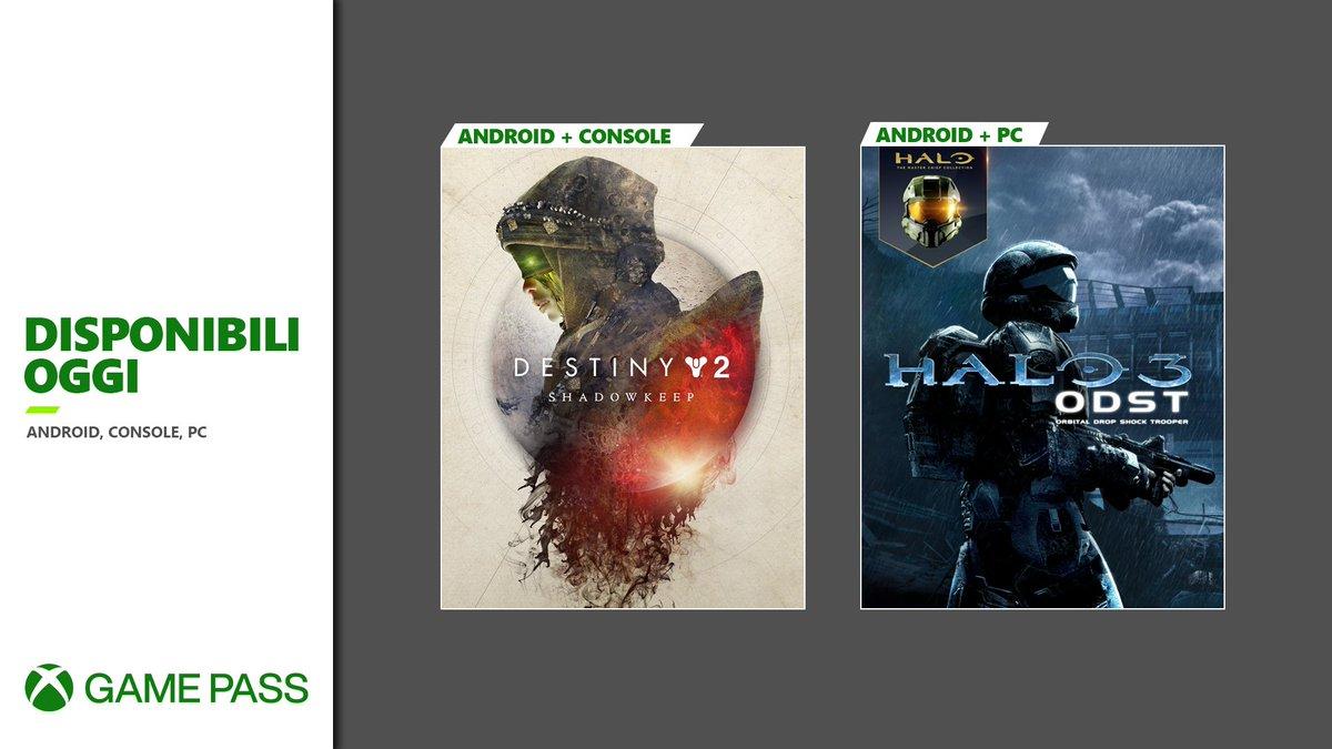GIORNATA BOLLENTE! Destiny 2 Forsaken e Halo 3: ODST sono disponibili oggi con #XboxGamePass 🧯 https://t.co/jlCg4MtgLF https://t.co/LmH53GhrgZ