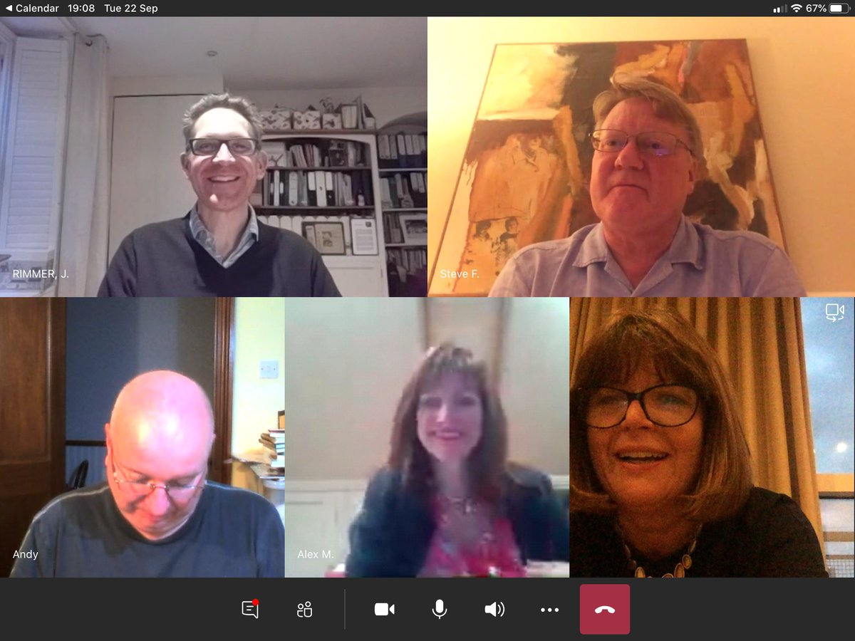 Great to catch up with my top leaders learning set this evening we have met since 2012 - not even Covid can get in the way - we just find different ways of making it happen.    @JamesRimmerNHS @alex___morton @dulwichchris @NHSLeadership https://t.co/tOwk9ZMWqc