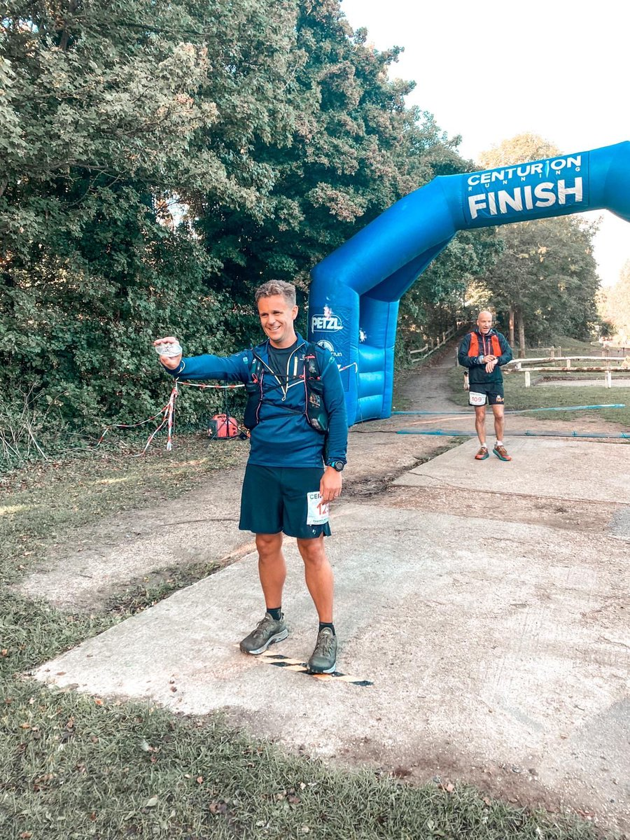 Why does this man look too tired to show how happy he really is?   This is coached athlete Rhydian after running 100 miles in 23:25, nicely beating his 24 hour goal at the Thames Path 100 Ultra Marathon!   #ultramarathon #running #trailrunning #run #marathon #ultrarunning https://t.co/ZvL2FDcVdU