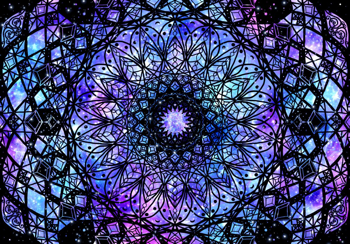 #moon #stars #space #magic #fractal #mandala #Galaxy #art #sparkles #gems #light #universe #mind #connected https://t.co/0QAbGtpI8A