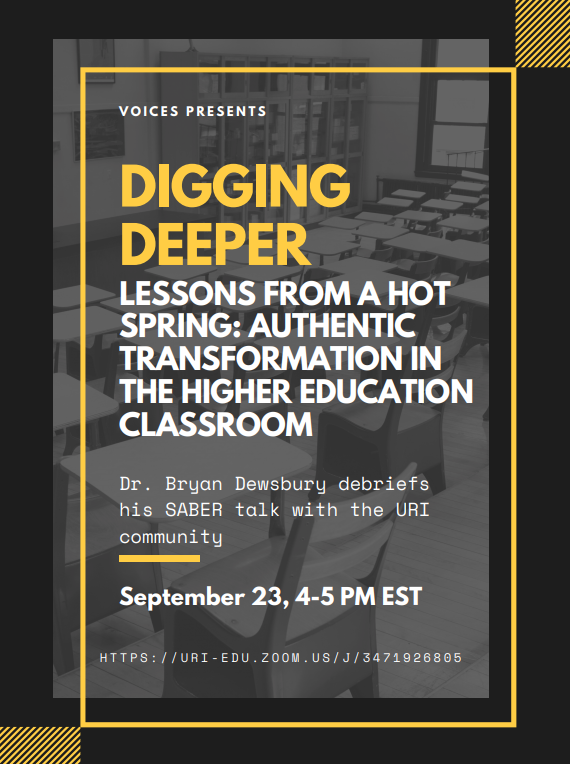 Dig deeper with @uricels professor @BMDewsbury following his @SABERcommunity talk on  racial justice in academic biology on 9/23 from 4-5pm ET. Debrief Monday's talk and further the conversation making the CELS community more #inclusive. #DiversityinSTEM https://t.co/WhCbWH62rz https://t.co/zeZZLUx7zl