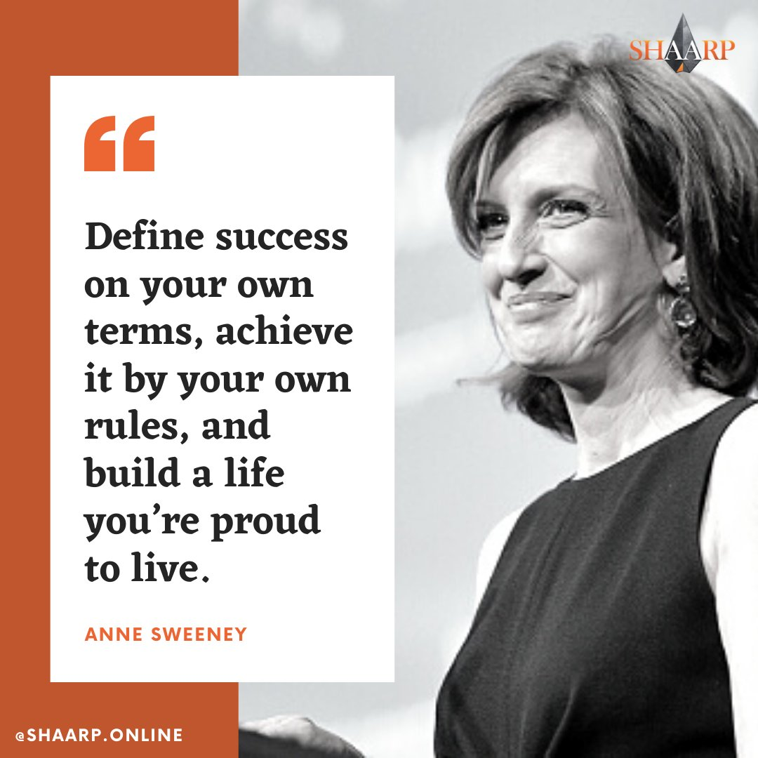 """""""Define success on your own terms, achieve it by your own rules, and build a life you're proud to live."""" - Anne Sweeney #shaarpshareconnectevolve #shaarp #shaarponline #share #connect #evolve #mind #body #soul #self #bodymindsoulself #aduarte7 #tupac #lifecoaching #coach https://t.co/jY0mjc26Cf"""