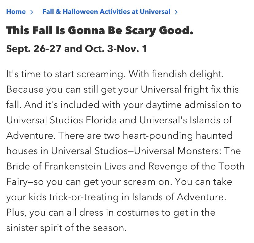 If you missed out on the #HHN haunted houses this past weekend, GOOD NEWS!!!! They'll be back this upcoming weekend & then starting October 3rd all the way through November!!! *ghostly swoosh*  #HHN30 #HHNForever #universalorlando #halloween https://t.co/7QnHzl5R7T