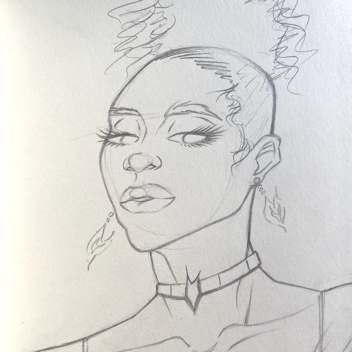Waiting for new pens to come in the mail, so here's a quick character concept ✏️  Sketchbook portrait by me 2020  ——————————————————  #portrait #sketchbook #sketch #pencil #pencilsketch #drawing #drawingsketch #illustration #characterdesign #character #characterart https://t.co/wU4vEAlVi4