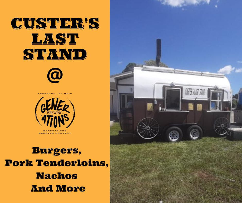 Food Truck Friday Night!  Custer's Last Stand will be here tonight from 5-9 p.m. serving up burgers, pork tenderloins, nachos, and much more. Spend your evening with us enjoying some delicious food and fantastic brews!  #foodtruck #Friday #CraftBeer #beer #weekend https://t.co/XBcVm0OoCB