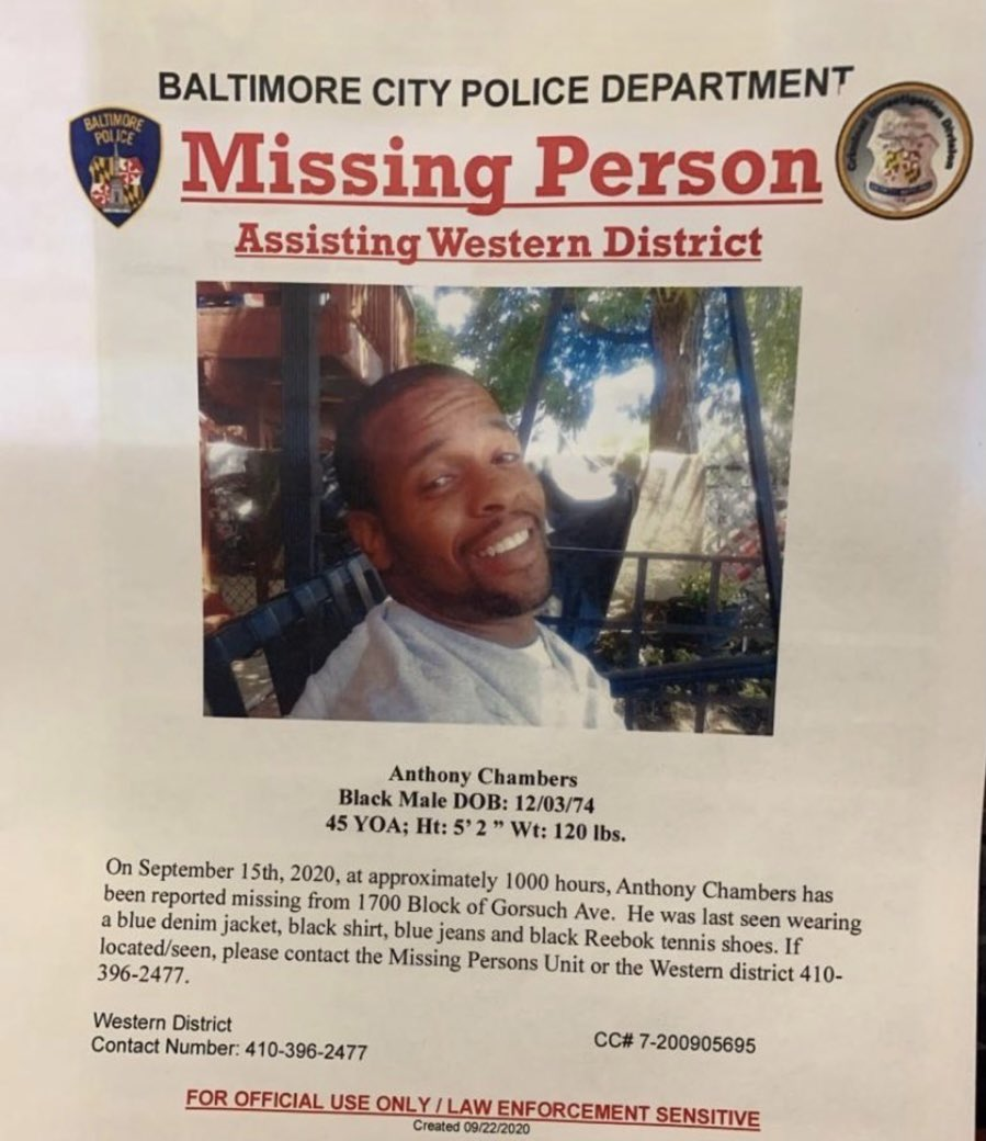 BALTIMORE He was last seen a week ago by Clifton off of Gorsuch Ave https://t.co/9no6gJtNzw