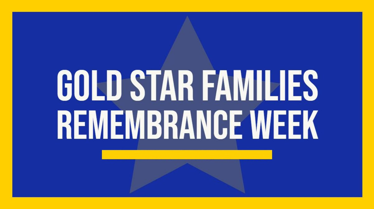 This week, our nation recognizes Gold Star Families Remembrance Week – a time to remember service members who have given their lives for our nation and to honor the sacrifice of their families. We thank you for your service and sacrifice. #GoldStarFamilies https://t.co/cqlxmLSLb4