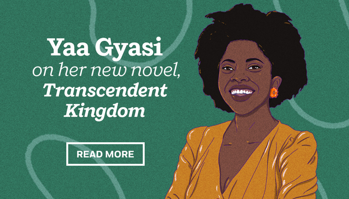 Yaa Gyasi shares the inspiration and research behind her stunning new novel, Transcendent Kingdom: https://t.co/zuOmG8lLhS https://t.co/cn21d81n8I