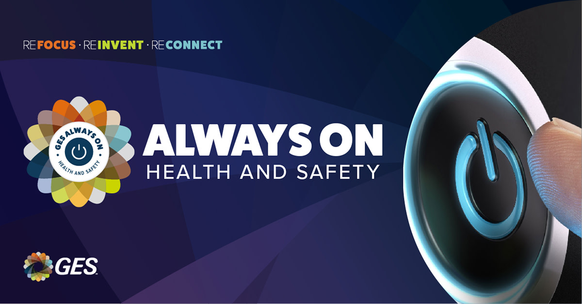 Our #1 priority is safety. Our Always On Health and Safety program is the first step of many in setting new standards for exhibitions, ensuring safer live events as we move forward: https://t.co/u3iYyNsrKU #REfocusREinventREconnectGES #liveevents #GESAlwaysOnHealthandSafety https://t.co/3N6p7HXIUB