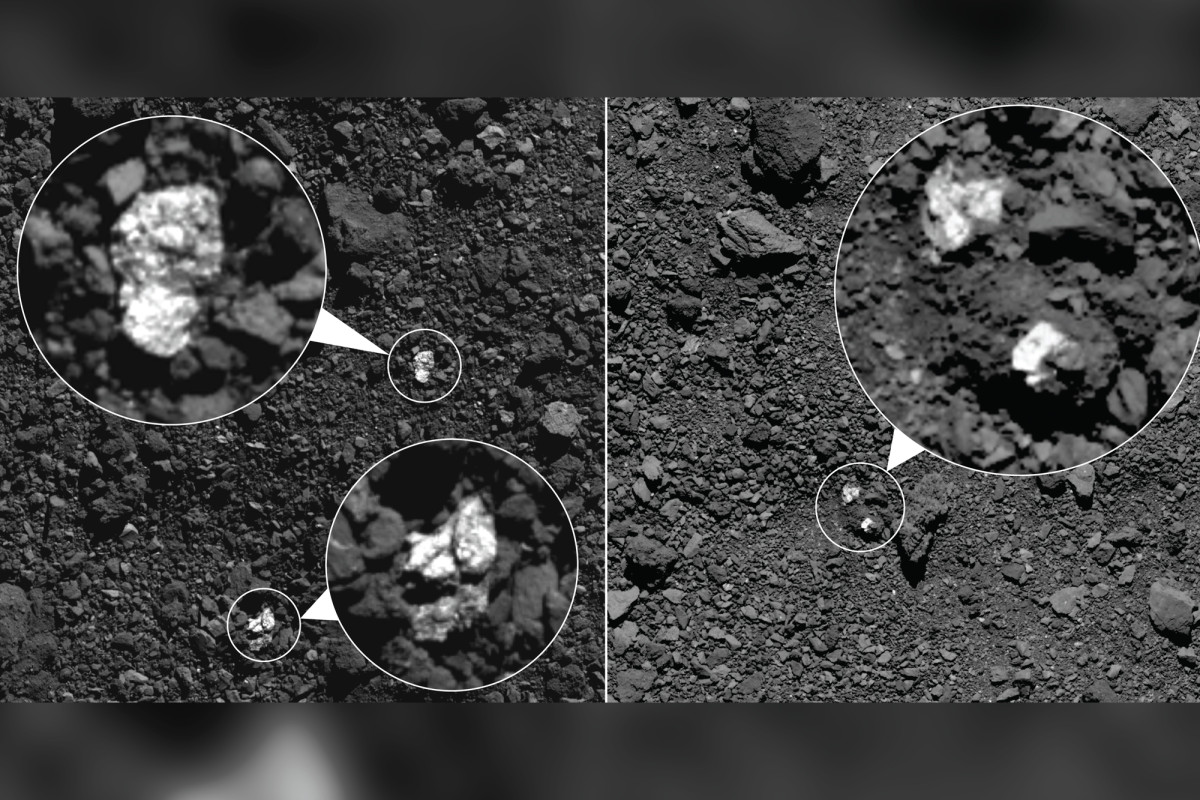 NASA finds parts of another asteroid on asteroid Bennu trib.al/GkPeBO0