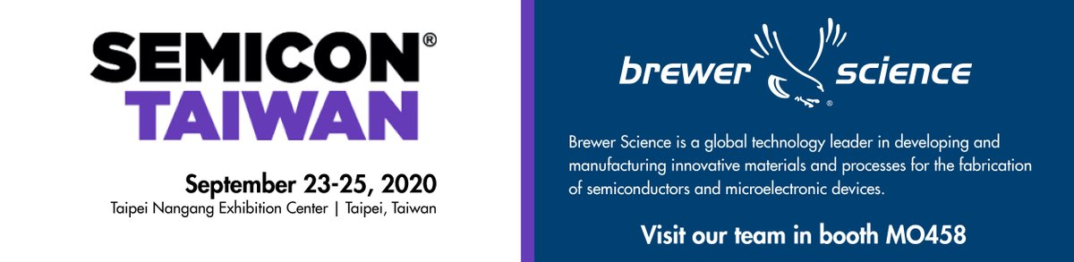 """test Twitter Media - Brewer Science is excited to attend and exhibit at #SEMICONTaiwan from Sept. 23-25 in Taipei, Taiwan. Kim Arnold, CDO, will be virtually presenting """"Advanced Packaging Material Needs"""" during the SiP Global Summit event on Sept. 23. Stop by booth MO458 to meet with our team. https://t.co/AqrOyeHz50"""