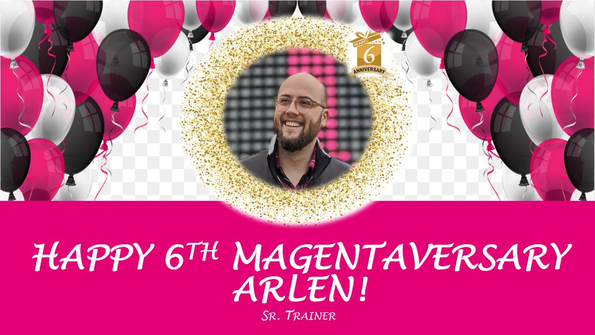 Big shoutout to @arlenjlove for his 6th #Magentaversary! Your digital ingenuity has played a huge role into helping us transition into this new virtual world.  We appreciate everything you do in making #WestisBest! @RyanKaslan @Adri_Makk @ISLila https://t.co/0aOeFFJSJc