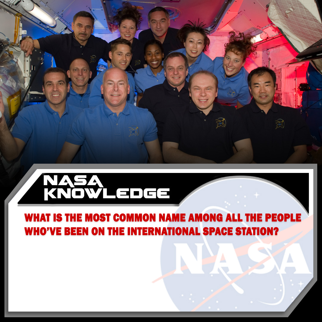 Over twenty years, there have been 240 different humans float aboard the International @Space_Station. Can you guess the most common first name among all those astronauts and cosmonauts? #TuesdayTrivia