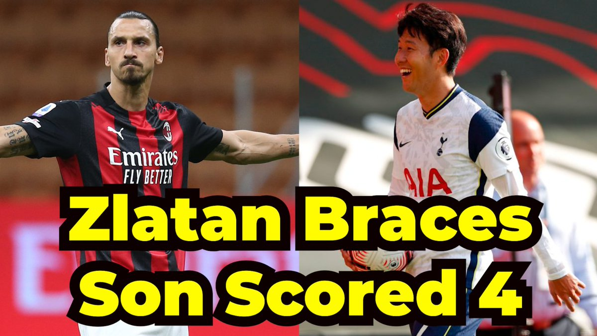 Zlatan's Brace!! Heung Min Son Scored 4 !!! Latest Football Results Toda... https://t.co/dPESkslmWy via @YouTube #SpursFamily #heungminson #Zlatan #zlatanibrahimovic https://t.co/L5qtAx6FCE
