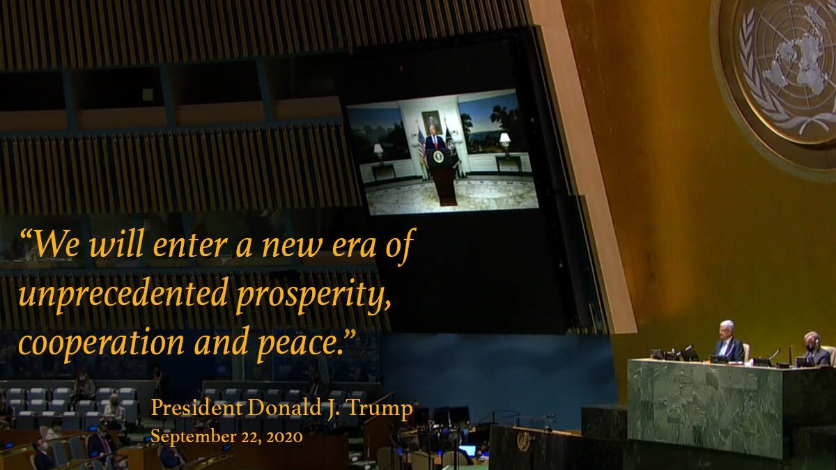 A message of hope from President Trump at #UNGA