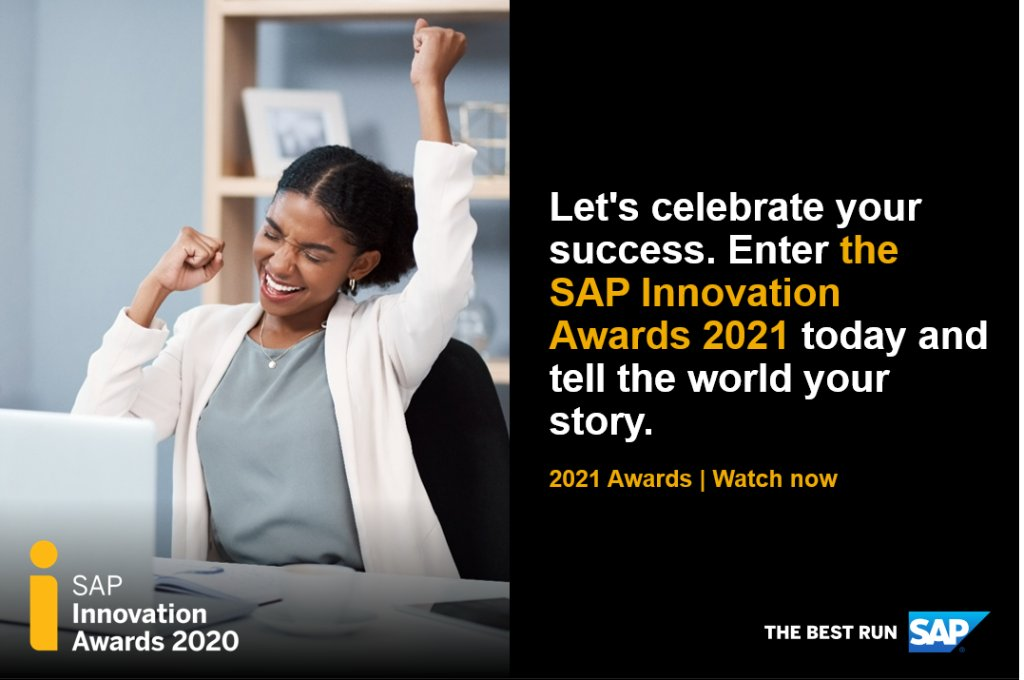 Seize the moment! It's time to enter the SAP Innovation Awards 2021. The world is waiting to hear your #SAPinnovation story. Watch the video for details: https://t.co/5VIl7ALMZ4 #insurance https://t.co/GQ8auTJw6L