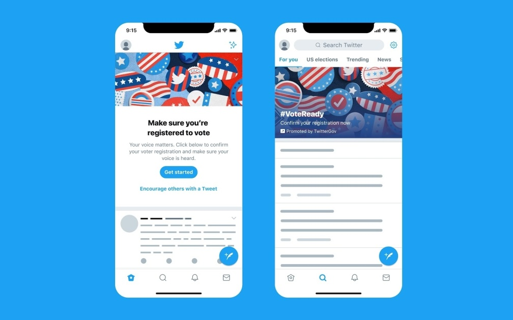 Twitter makes its 'biggest push ever' to encourage voter registration