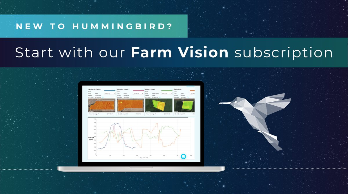 Subscribe to Farm Vision from Hummingbird Technologies and access our #satellite imagery to monitor and #benchmark the whole farm's #cropping performance this season.  🌾 Rolling satellite imagery 🌾 Cloud detection masking  🌾 #Analytics dashboard  https://t.co/wfbSbuMcuw https://t.co/Yq2n502YCO