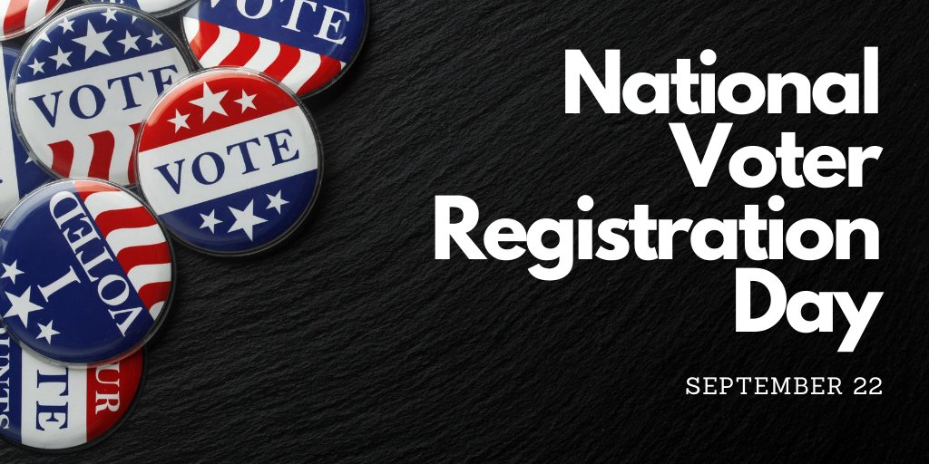 On this #NationalVoterRegistrationDay, make sure you are registered to vote. And if you've moved recently, please update your address. https://t.co/vGWbf3zSlq