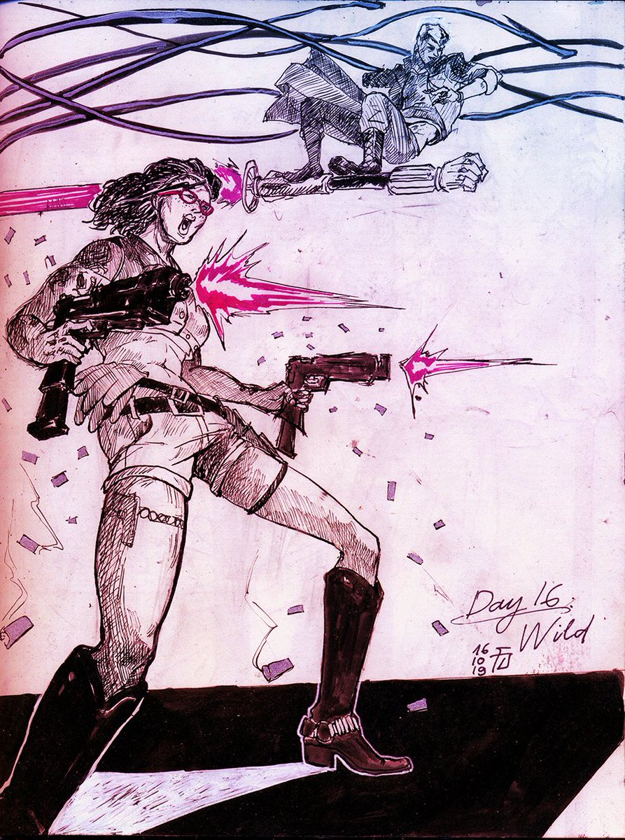 [ 2019 ] Think I haven't posted it here, some old DMC 5 drawing I made for last year Ink-tober, it just the main team being random on their journey to delete Mr.Evil XD  #Nico #Nero #V #DevilMayCry5 #DMC5 #DevilMayCry #DMC https://t.co/CHZjnXHEnD