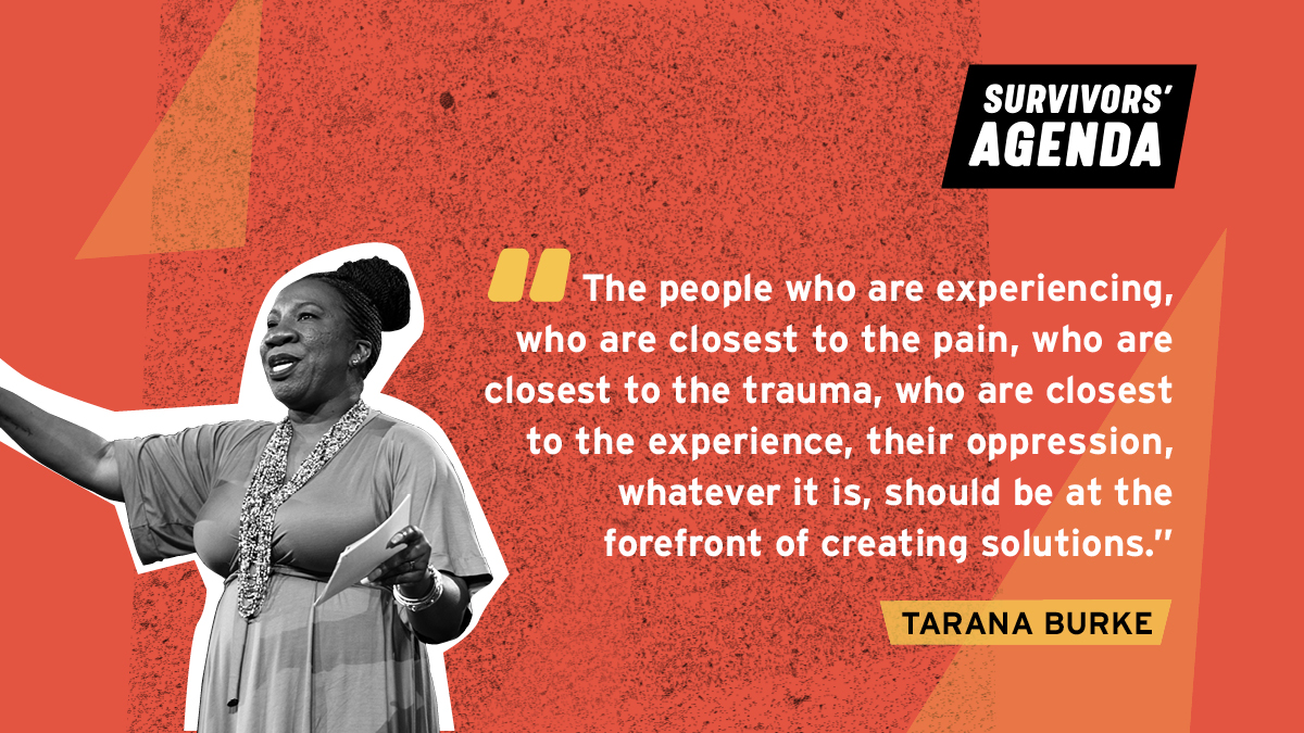 In the last few months, the #SurvivorsAgenda initiative has been crowdsourcing the issues, policies, + resources that survivors are calling for. Now, what we've created together will be unveiled at the Survivors' Summit Sept 24-26! Learn more: https://t.co/CH5qCffUcS #SVSolutions https://t.co/c03oHf8QOK