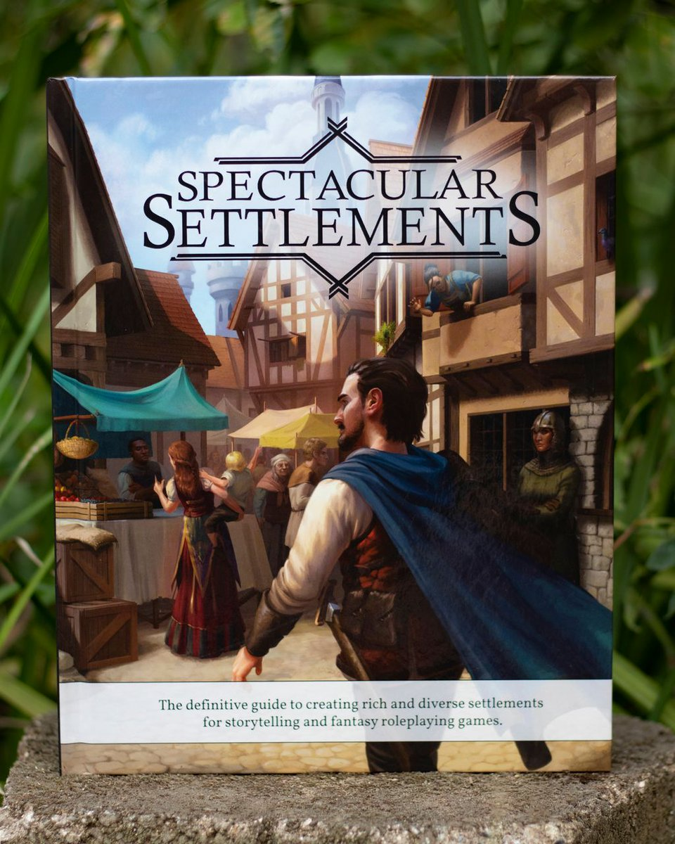 Our Spectacular Settlements book has over 450 pages of resources to help you build your #DnD world, from the smallest villages to the largest cities and everything in between https://t.co/vIMxrh1jia