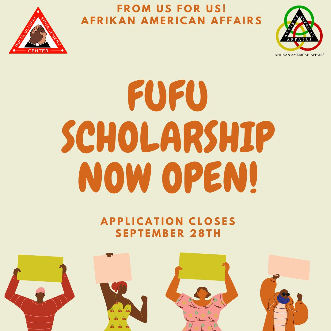 Don't forget to apply to the FUFU scholarship now!! This a great opportunity for all sophomores! Apple at https://t.co/Z6mw2KkVtU https://t.co/fncS1hbdl6