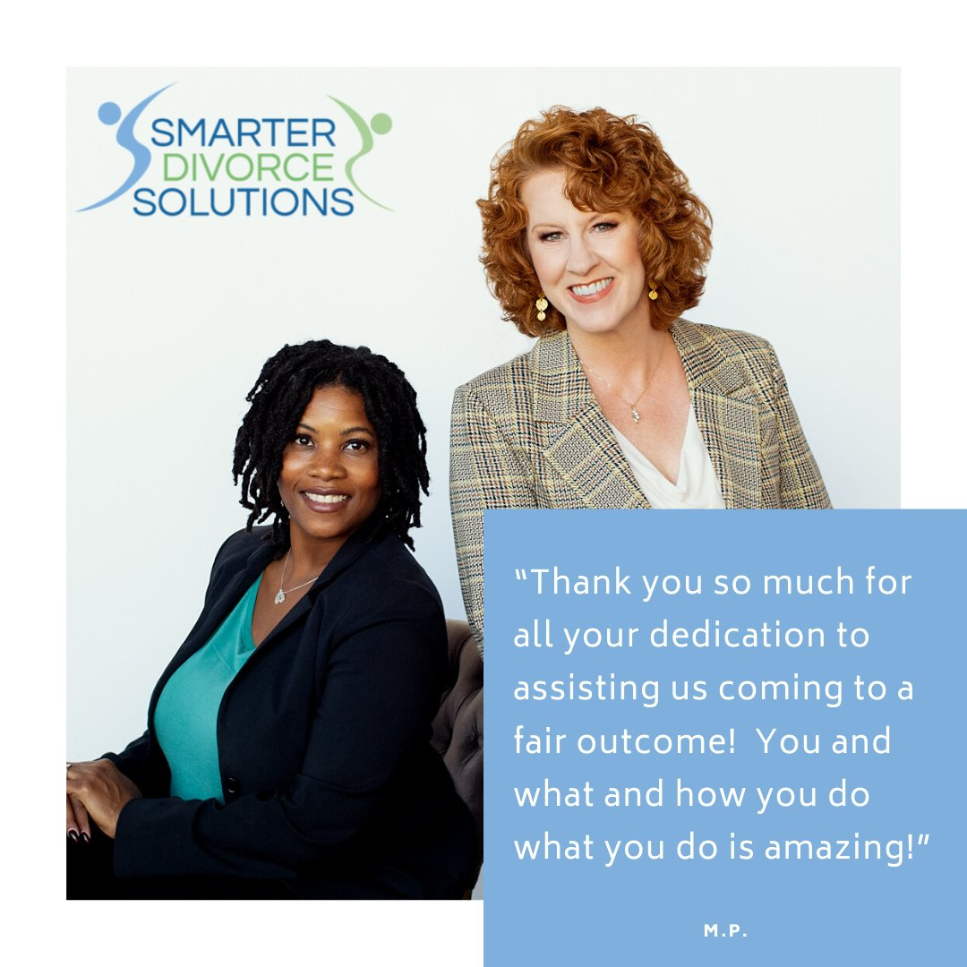 #SmarterDivorceSolutions #TestimonialTuesday #Testimonial #DivorceDoneDifferently #Divorce #CDFA #DivorceFinancialPlanner #Mediation #Mediator #CollaborativeDivorce #LitigationSupport #Litigation https://t.co/HkE7x092BN
