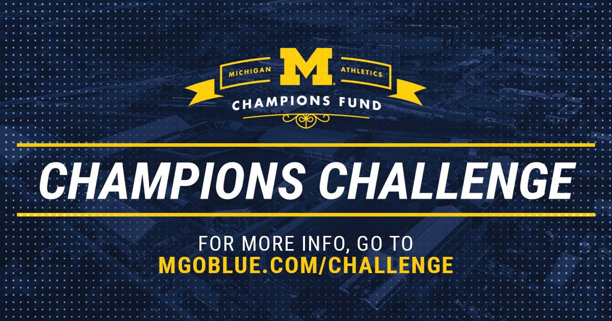 While 2020 continues to bring unforeseen difficulties that affect so many, Michigan Athletics will continue to be Leaders and Best.   And so much of the credit goes to YOU.   From the Desk of Warde Manuel: https://t.co/c8LMBv8XaM https://t.co/tBSZ2YBc0M