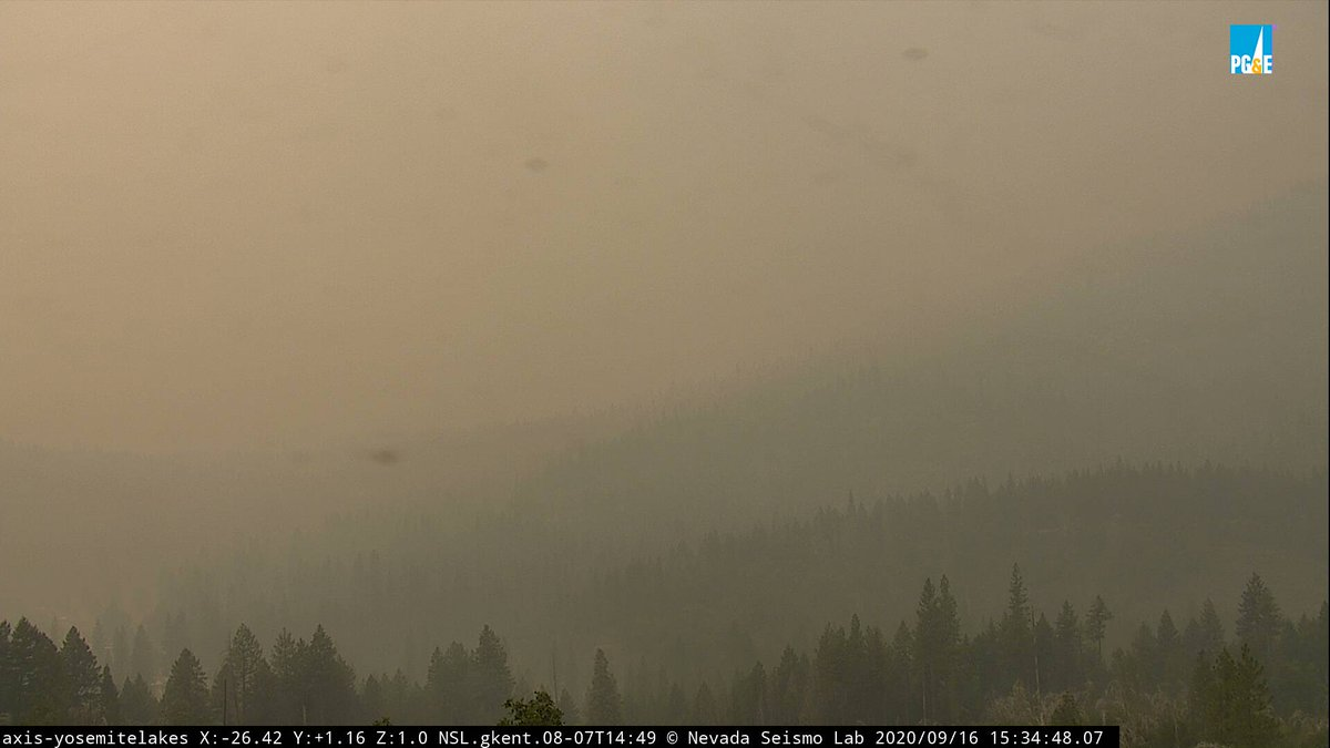 Air quality is improving throughout the state as containment grows on #wildfires. However, unhealthy air still exists in some areas. Find the latest air quality info at https://t.co/P4Tv0l7iLO.  #creekfire last week 👇                     #creekfire this week 👇 https://t.co/mGmHxLy6FT