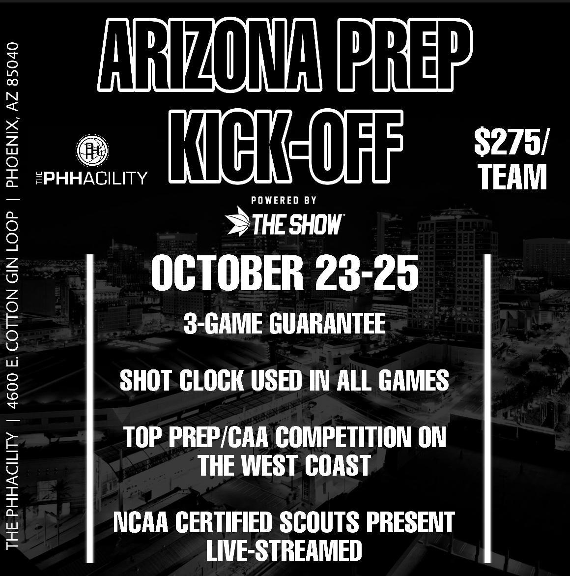 Let's Get This SHOW Started!  Arizona Prep School Kick-Off By @theShowJLVargas / @GreggRosenberg1  Only 1 Month Away🏀🌵  Top Scouts, JUCO, NAIA, D3, & D2 Coached Have Confirmed Already  Register Now...This Event Will Sell Out Quickly!  https://t.co/1vkEXlQIrO https://t.co/7wAGWOHAVD
