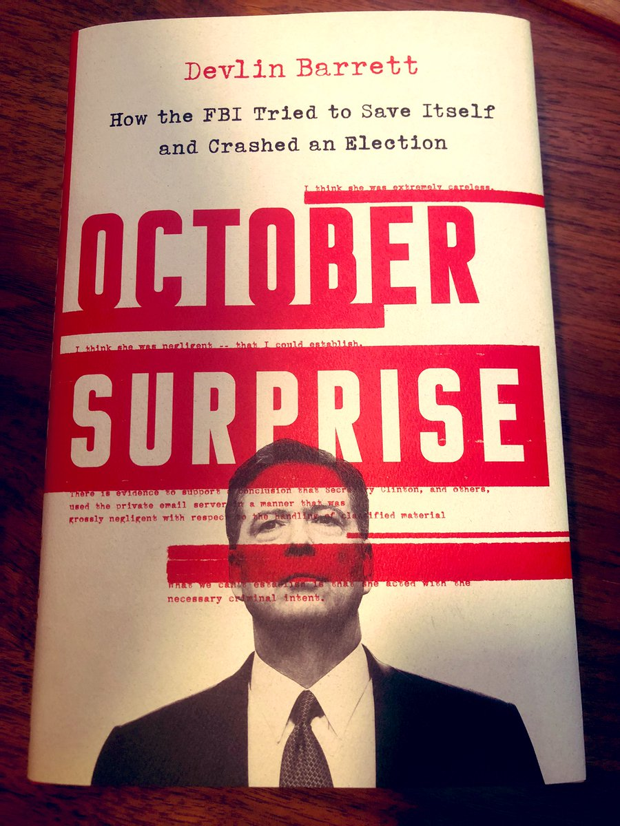 Hello darkness, my old friend. Very excited to dive into @DevlinBarrett's new book on the last October Surprise as we get ready for whatever next month will bring. https://t.co/1lh8Dg258u