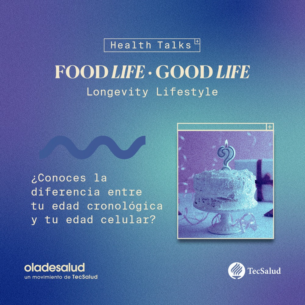 ¿Conoces la diferencia entre tu edad cronológica y tu edad celular? Food life, Good life trae este 28 de octubre una experiencia digital innovadora para una vida larga y saludable.  Esperala pronto...  #FLGL20 #TecSalud https://t.co/Td41hdgZiv