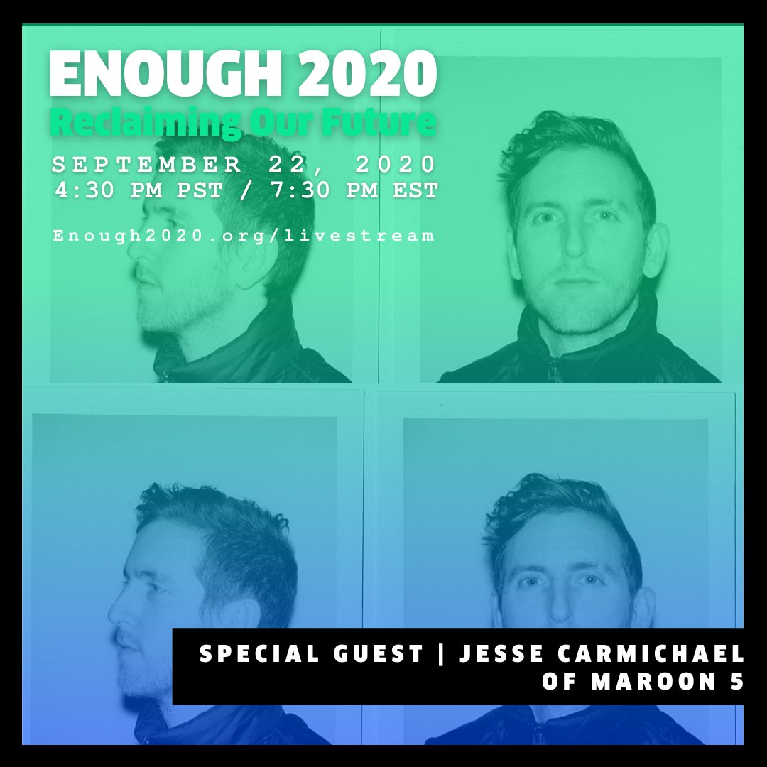 Join Jesse Carmichael today for a special event talking about youth power in the upcoming election and how youth can fight for their future.