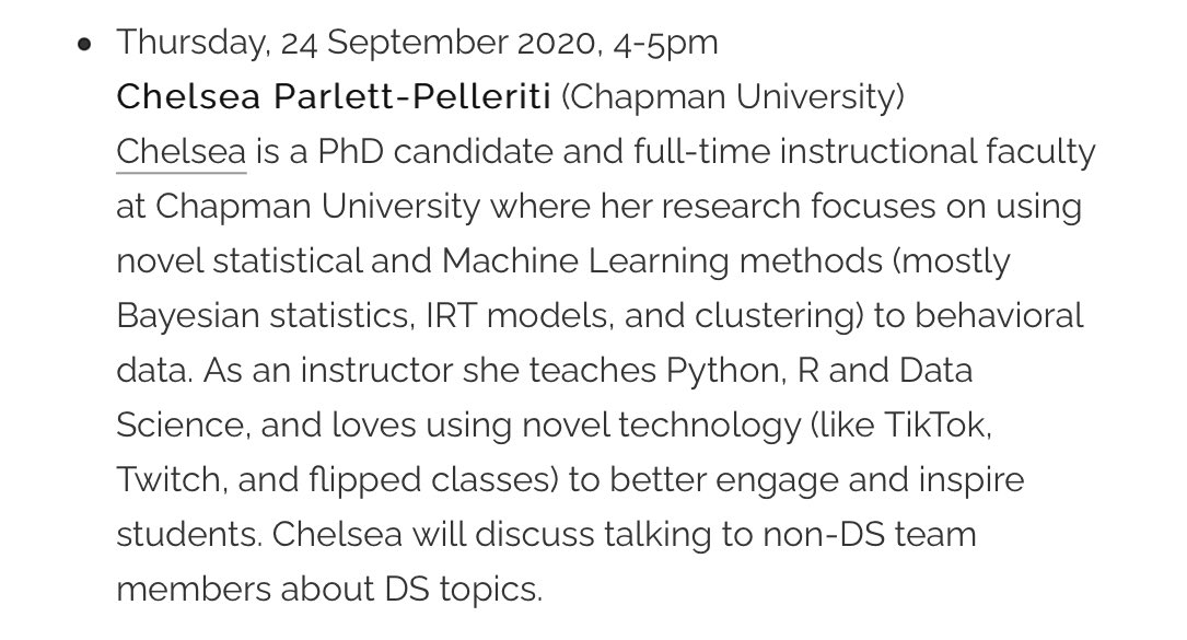 Thursday's Toronto Data Workshop features @ChelseaParlett on talking to non data scientists about data science.   4pm Toronto time.   All welcome.   Sign up to get an invite here: https://t.co/LBipcWCmU3 https://t.co/yLEbJ5nnw0