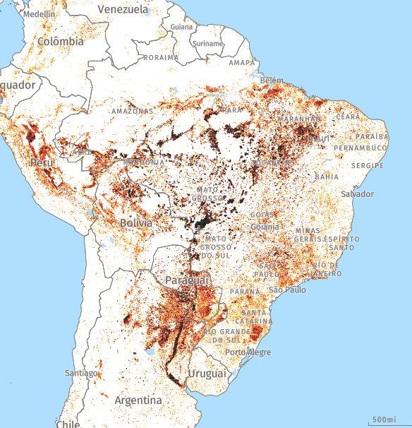 Mais Informação. Focos de incêndios atuais. Mapa. https://t.co/eq8BwnQB3Q