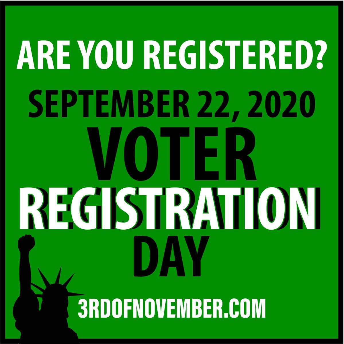 Happy #nationalvoterregistrationday !  Get yourself registered today! Your country is counting on you. . . #vote2020  #electionday #civilrights #america #wethepeople #unitedwestand https://t.co/fUbV6uxfXA