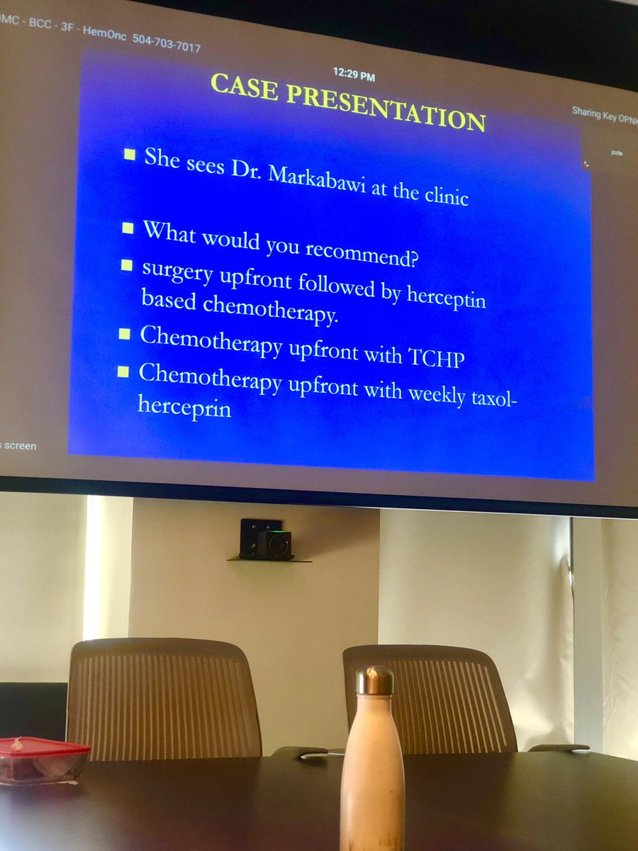 Part 3/5 breast cancer lectures on neo/adjuvant her-2 therapies by our breast specialist Dr. Theo, with case presentations #breastcancer #her2 #noonconference https://t.co/tnU6xfmy9j