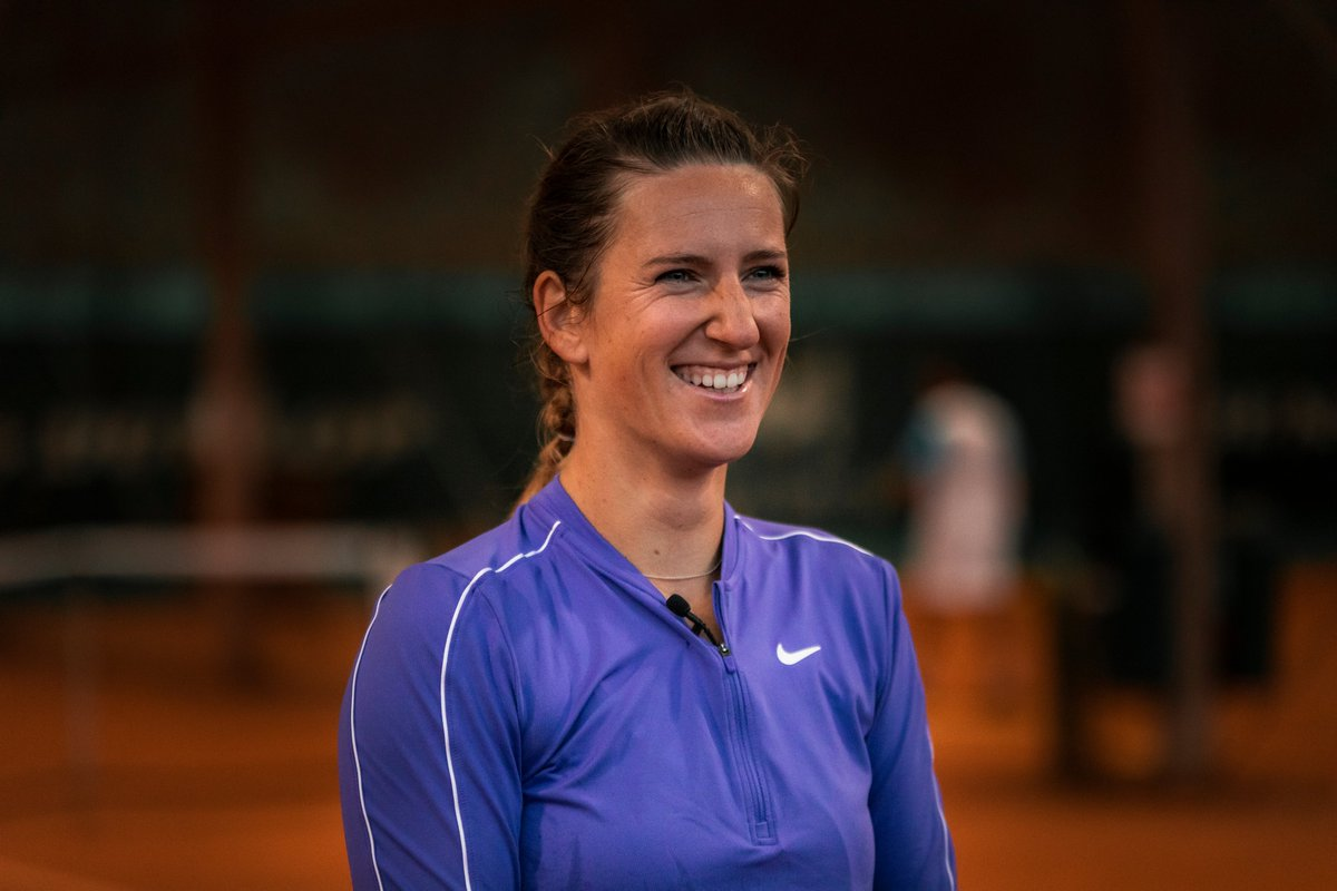 Had the chance to speak to her for a good 15 minutes after her practice - definitely one of my fav interviews!  This was her face when she told me about the 'punishment' she gave her team for betting against her winning Cincy...  We'll be putting out the video later this week 👍 https://t.co/EkCyE8CuPx