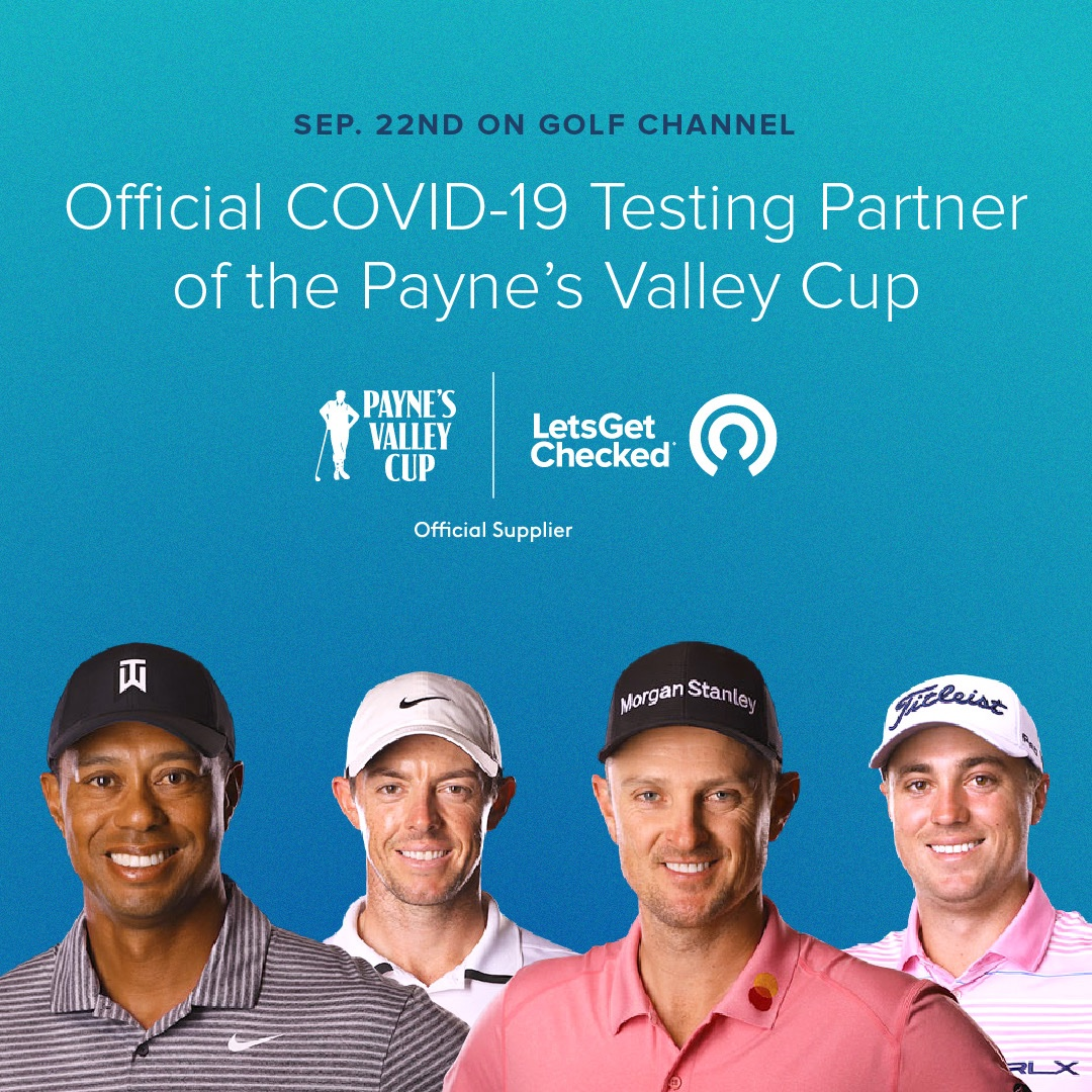 We're excited to be the official COVID-19 testing supplier for today's @PGATOUR  Payne's Valley Cup, a special 18-hole charity team exhibition match headlined by @TigerWoods @McIlroyRory @JustinThomas34 and @JustinRose99! https://t.co/fvS6i7o5Gw