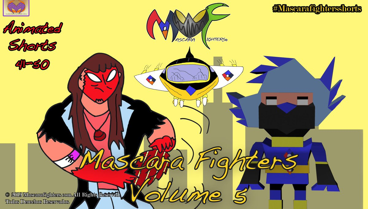 @mascarafighters Volume 05 Intro card #mascarafighters #hd #remastering #directorscut #worldwide #spanishversion #newcontent #intro #introcard #mascarauniverse #three #album #energyzoom #v3 #volume05 https://t.co/IMSQWVkivI https://t.co/jOTjaHRsUY