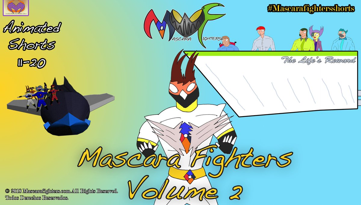 @mascarafighters Volume 02 Intro card #mascarafighters #hd #remastering #directorscut #worldwide #spanishversion #newcontent #intro #introcard #mascarauniverse #three #album #energyzoom #v3 #volume02 https://t.co/IMSQWVkivI https://t.co/4odQBvO2F0