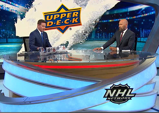 """Watch as the NHL Network """"unwraps"""" the Dallas Stars heading into the Stanley Cup Final with the help of Upper Deck. Watch until the end to see Upper Deck surprise one of the anchors with his very own card: https://t.co/AX9JymH5B9 #stanleycup https://t.co/rkATRxTyue"""