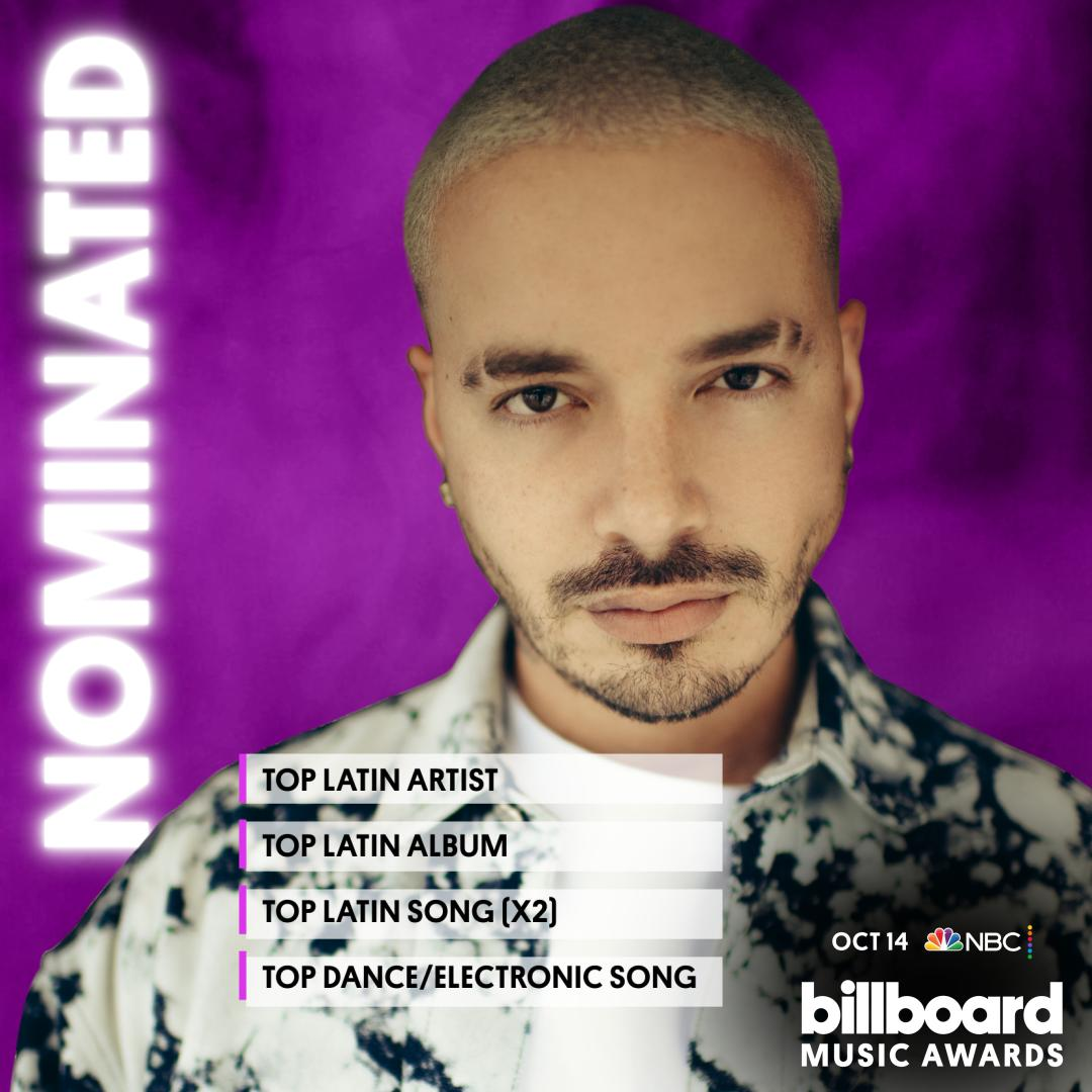 Agradecido por estas nominaciones 2020 Billboard music awards! Octobre 14th at 8/7c por NBC. #BBMAs