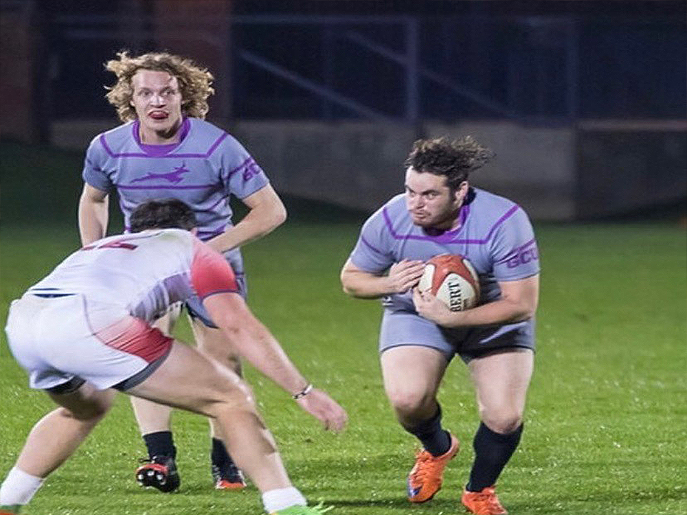 """""""I looked at it as a huge blessing to even be alive. I focused on finding my purpose in life."""" The words of @gcurugby alum Hunter Twamley, who turned a debilitating accident into a major blessing: https://t.co/oH3GJG5zVc #LivetheLopeLife #LopesRising @D1ARugby https://t.co/uNqGQNdhzo"""
